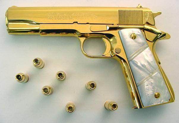 Картинки по запросу золотой пистолет