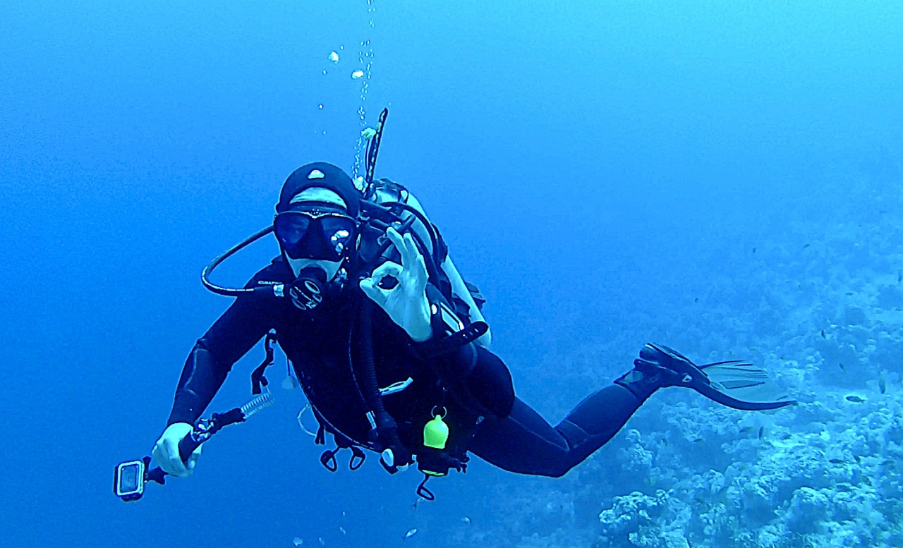 Подводные картинки водолазов