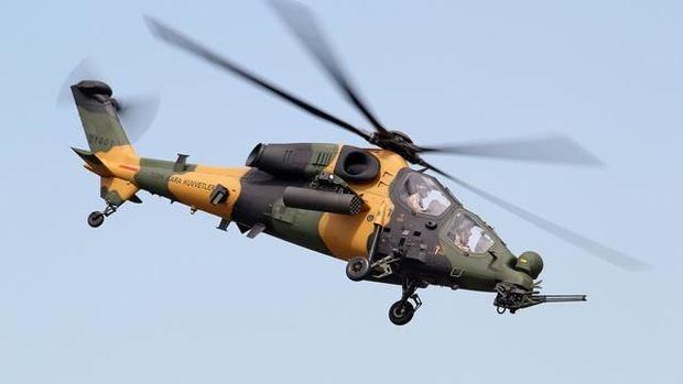 Kürd terrorçular T129 ATAK helikopteri ilə məhv edildi – VİDEO