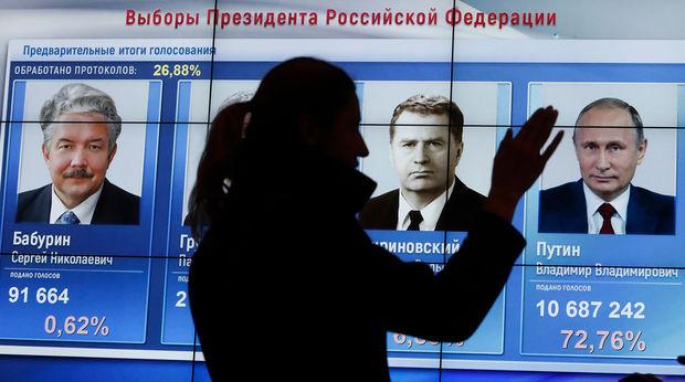 Rusiyada prezident seçkilərinin ilkin nəticəsi açıqlandı