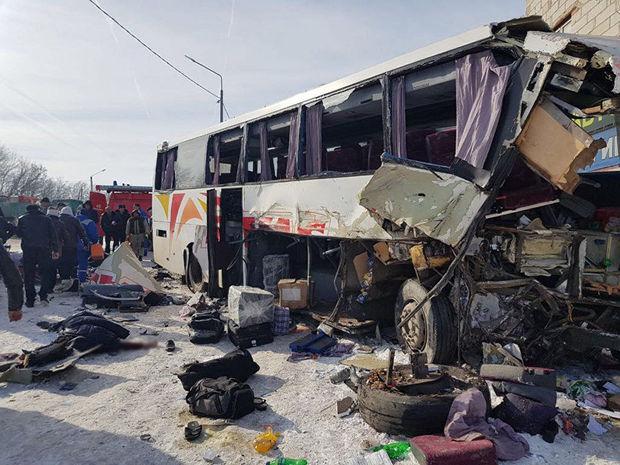 Rusiyada erməniləri daşıyan avtobus qəzaya uğradı