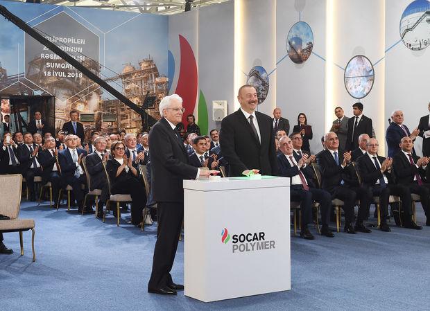 """Sumqayıtda """"SOCAR Polymer"""" zavodu açıldı - FOTO"""