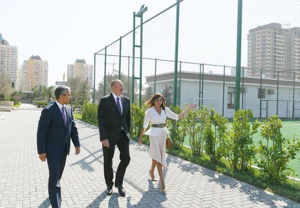 İlham Əliyev idman-əyləncə park kompleksinin açılışında