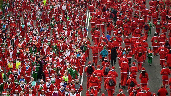 Minlərlə Santa-Klaus Madrid küçələrinə axışdı