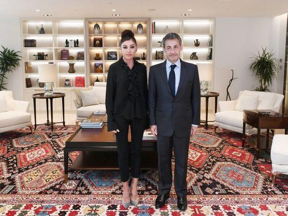 Mehriban Əliyeva Nikola Sarkozi ilə görüşüb