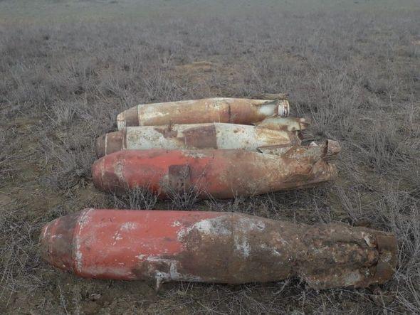 Ağstafada aviabombalar aşkarlandı - FOTO_1