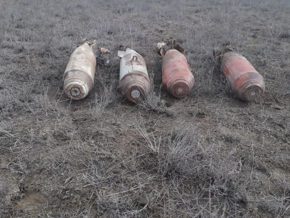 Ağstafada aviabombalar aşkarlandı - FOTO_2