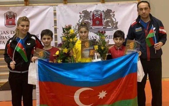 11 yaşlı idmançılarımız Latviyada üç medal qazandı - FOTO