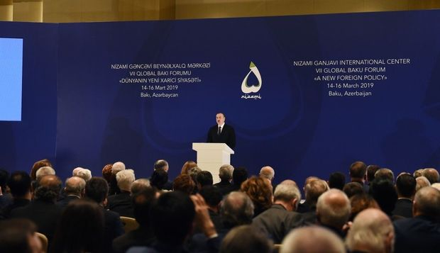 İlham Əliyev VII Qlobal Bakı Forumunda