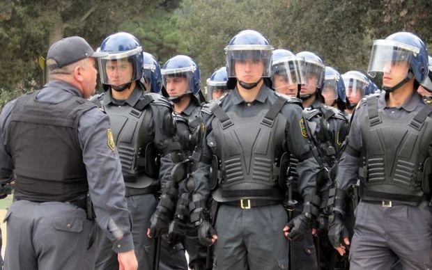 Azərbaycan polisi gücünü göstərdi - VİDEO