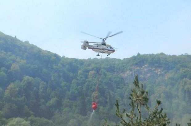 Qobustanda dağlıq ərazi yanır - Helikopter cəlb edildi