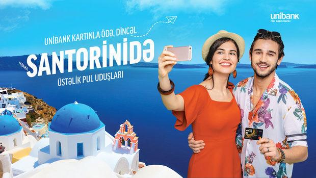 """""""Unibank"""" müştərisi lotereyada Santoriniyə səyahət paketi qazandı"""