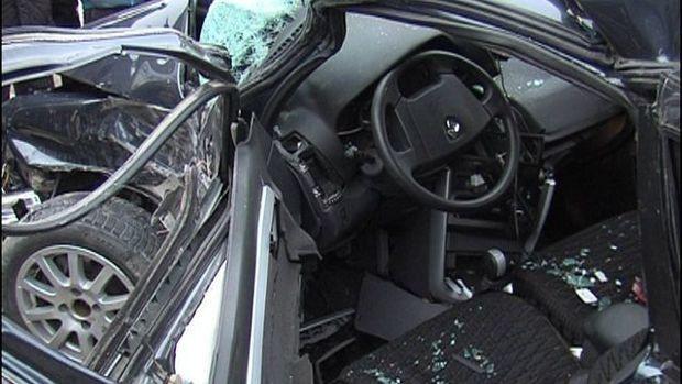 Yevlaxda baş verən qəzada sürücü öldü - FOTO
