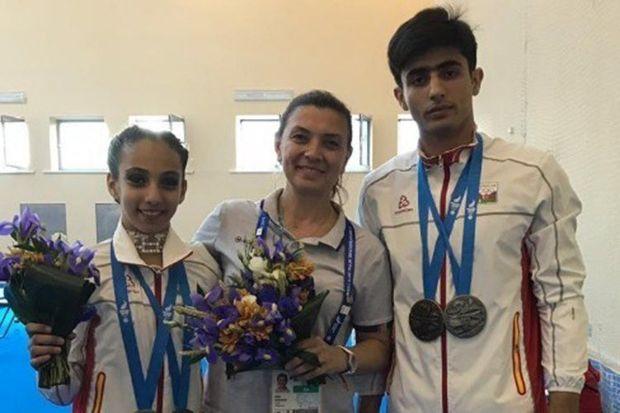 Gimnastlarımız Azərbaycana səkkizinci medalı qazandırdılar