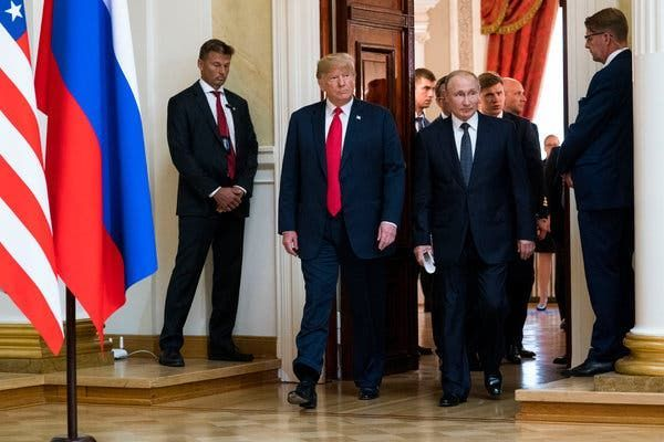 Putinlə Trampın görüşü başladı