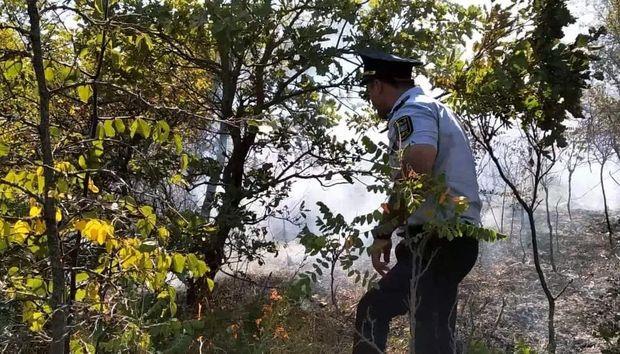 Qubada səhərdən başlayan yanğın davam edir: 20 hektar ərazi yandı