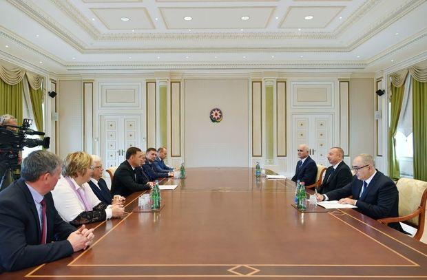 İlham Əliyev rusiyalı qubernatorla görüşüb