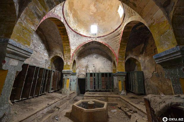 Nuru Paşanın çimdiyi, Məşədi İbadın getdiyi hamamın bənzəri: Tarixi Qobu hamamından FOTOREPORTAJ