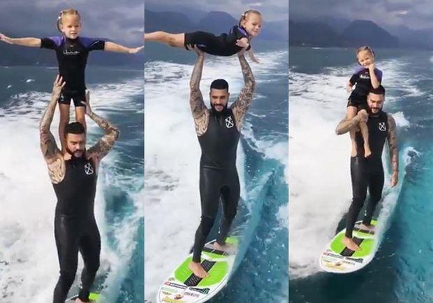 Timatinin qızı ilə sörfinq paylaşımı izlənmə rekordu qırdı