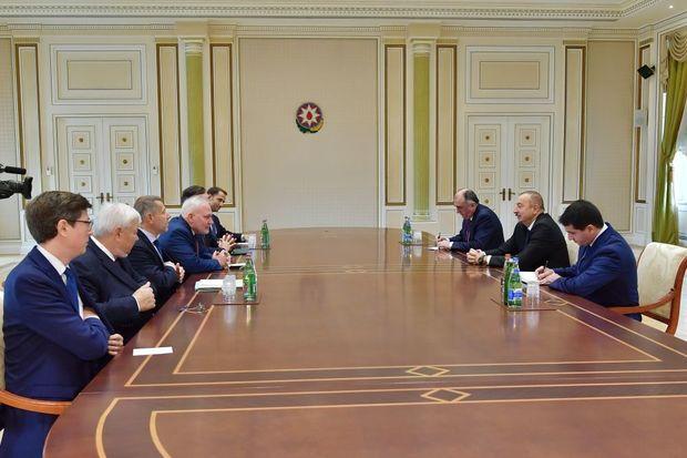 İlham Əliyev Minsk qrupunun həmsədrləri ilə görüşdü