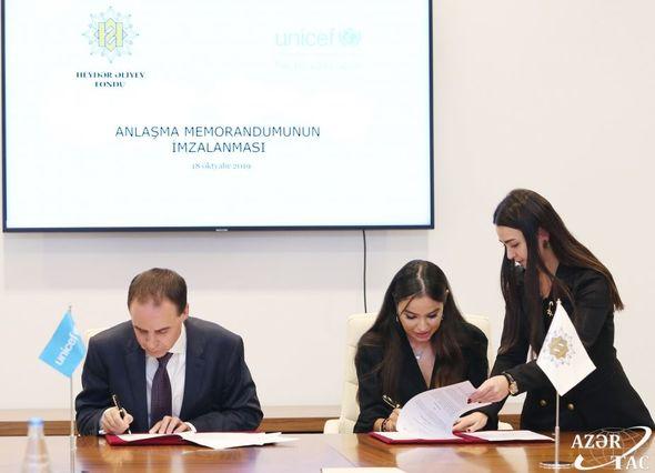 Heydər Əliyev Fondu ilə UNİCEF arasında Anlaşma Memorandumu imzalanıb - FOTO_3