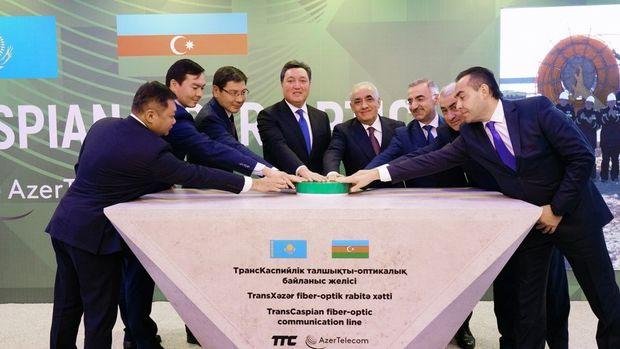 """""""AzerTelecom""""un iştirakı ilə """"TransCaspian Fiber Optic"""" layihəsi üzrə işlərin başlanmasına dair tədbir - FOTO"""
