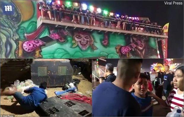 Əyləncə mərkəzində attraksion qırıldı: Çox sayda yaralı - VİDEO