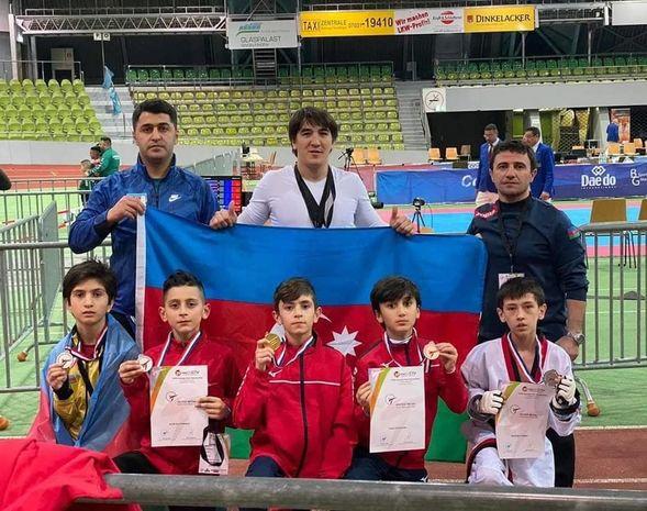 Beş azərbaycanlı uşaq taekvondoçu Avropa çempionatından medalla qayıdır