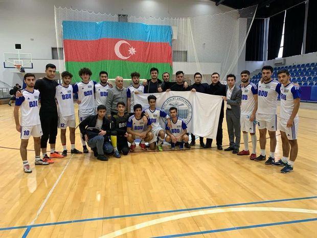 BDU futzal komandası ölkə çempionu oldu - FOTO