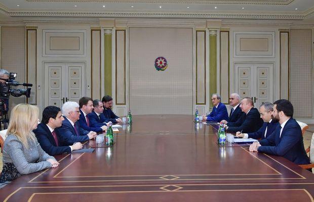 İlham Əliyev Rusiyanın iqtisadi inkişaf nazirini qəbul etdi - FOTO