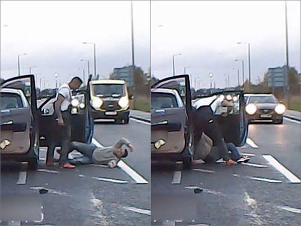 Siqnal verən sürücünü qəddarcasına döydü - VİDEO