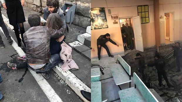 Yerevanda hərbi komisarlığın döşəməsi çökdü: 11 çağırışçı xəsarət aldı – FOTO/VİDEO