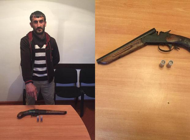 Astarada silah satan şəxs saxlanıldı - FOTO