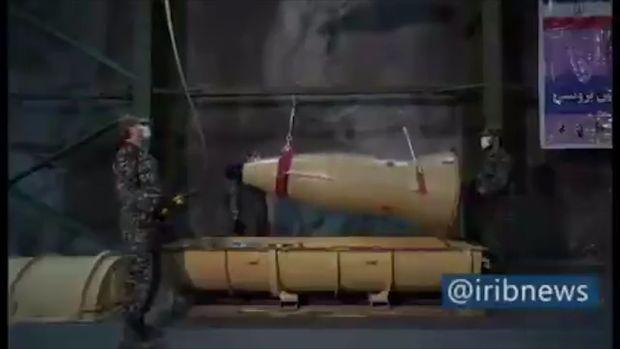 İran ilk dəfə raket anbarlarını nümayiş etdirdi - VİDEO