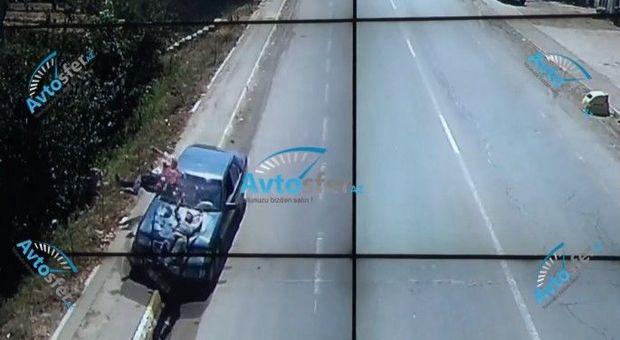 Azərbaycanda sükan arxasında yatan sürücü iki nəfəri vurdu: Biri öldü - ANBAAN VİDEO