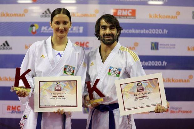 İki karateçimiz Parisdə mükafatlandırıldı - FOTO