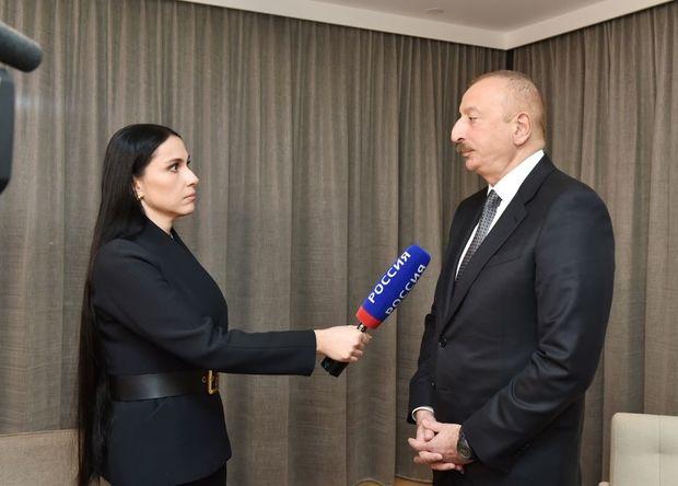 """Azərbaycan Prezidenti İlham Əliyevin Rusiyanın """"Rossiya-24"""" televiziya kanalına müsahibəsi"""