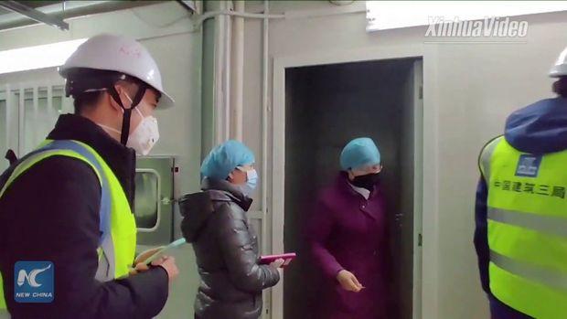 Uxanda koronavirus xəstələri üçün tikilən ilk xəstəxanadan görüntülər - VİDEO