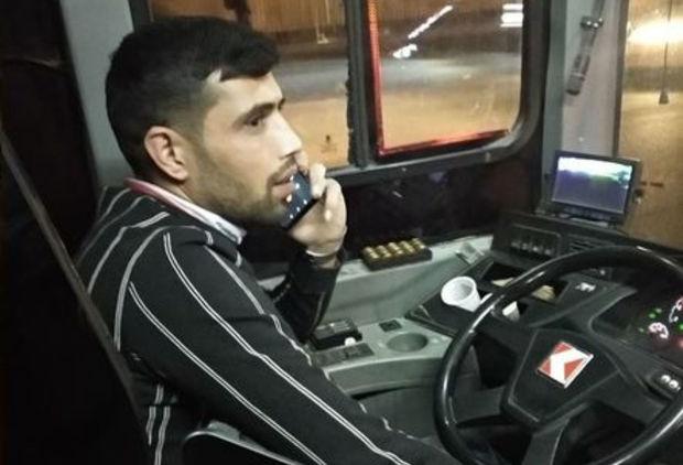 Bakıda avtobus sürücüsü qaydaları pozdu:
