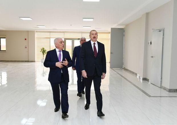 """İlham Əliyev """"Dübəndi"""" yarımstansiyasının açılışında"""